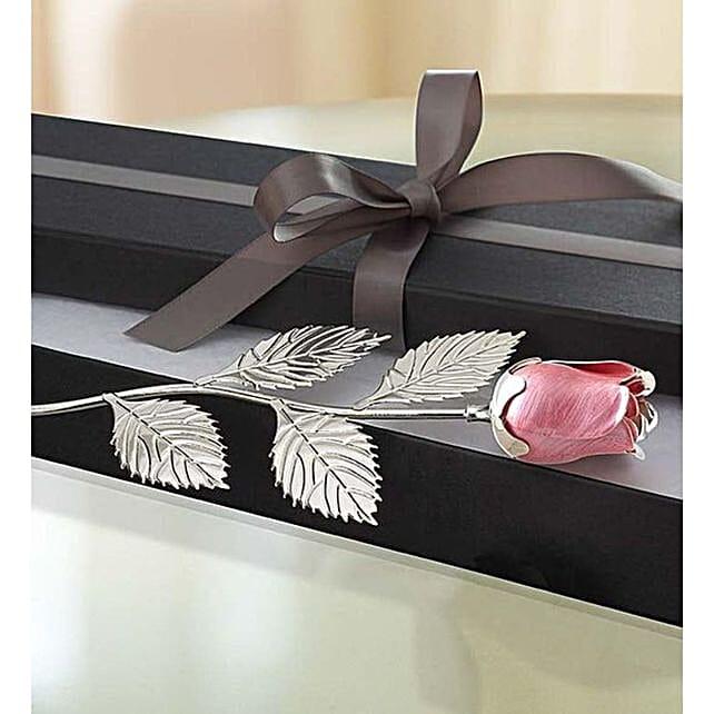 Pristine Silver Plated Rose