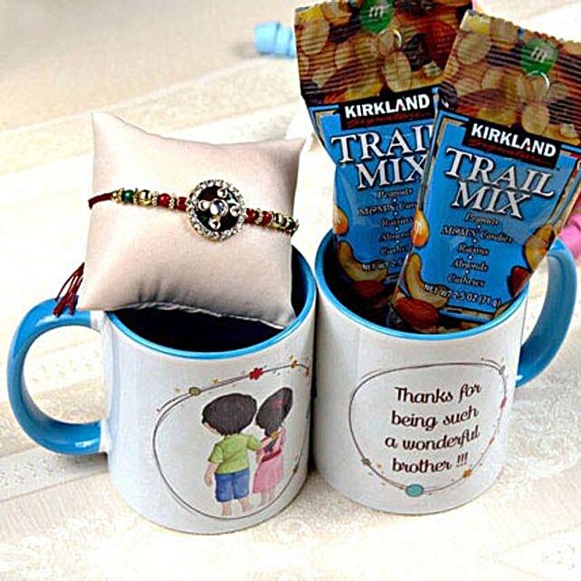 Rakhi with Kirkland Trail Mix in Mug