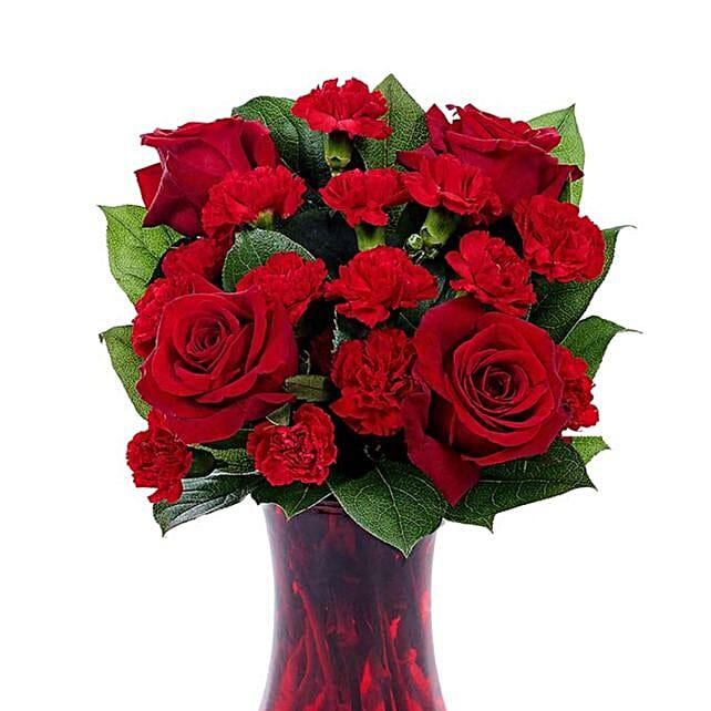 Red Rapture Vase Arrangement