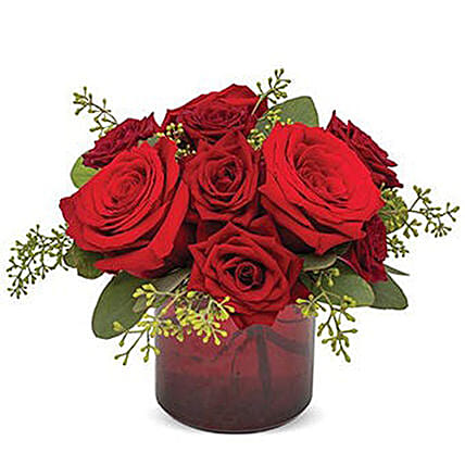 Red Rose Delight Bunch:Send Flowers USA