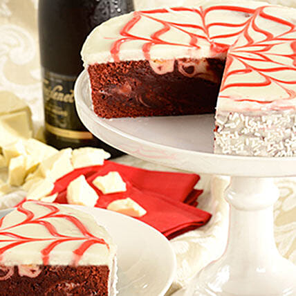 Red Velvet Brownie Cake Cakes Birthday