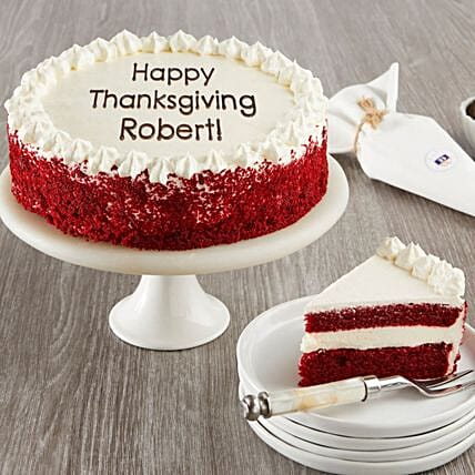 Red Velvet Chocolate Cake With Personalization