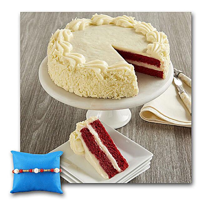 Red Velvet Chocolate Cake With Rakhi
