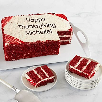 Red Velvet Sheet Cake With Personalization