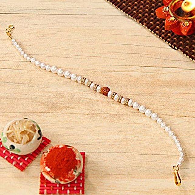 Rudraksh Pearl Beaded Bracelet Rakhi