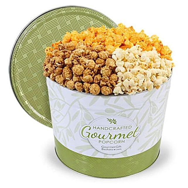 Savoury Popcorn Tin 2 Gallon:Popcorn Hampers To USA