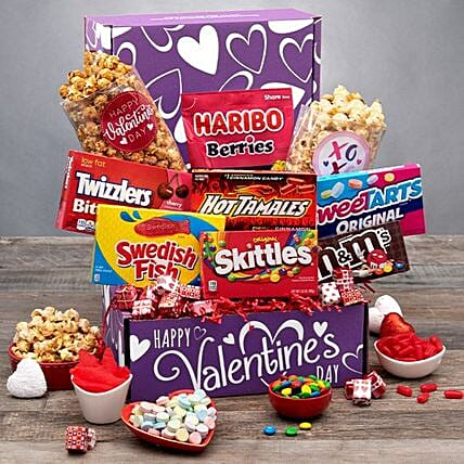 Send A Hug Care Package Purple:Valentine's Day Gift Delivery in USA