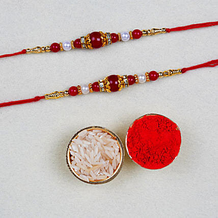 Set Of 2 Beautiful Rakhis