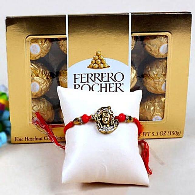 Shiva Rakhi and Ferrero Rochers