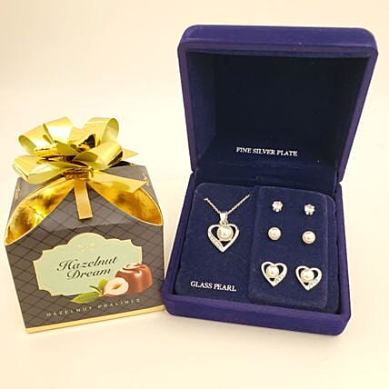 Silver Plated Jewelry Gift Set:Send Jewellery to USA