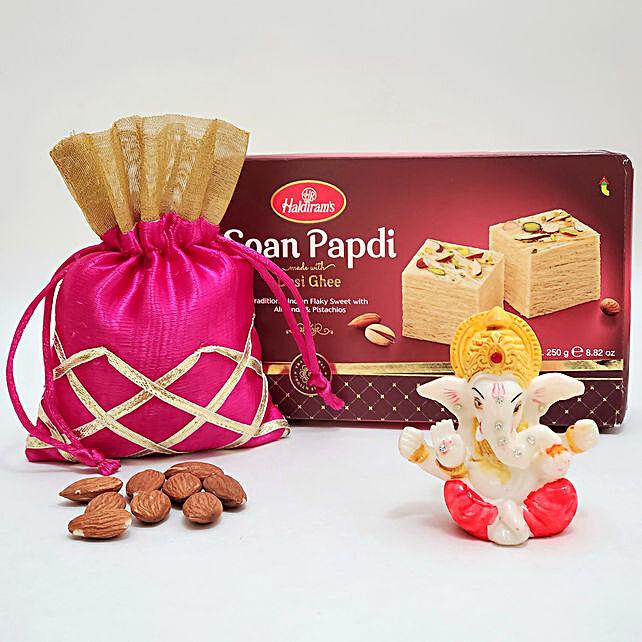 Soan Papdi With Lord Ganesha Idol