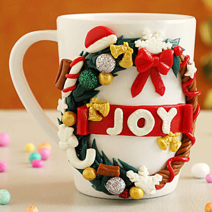 Special Christmas Wreath Joy Mug