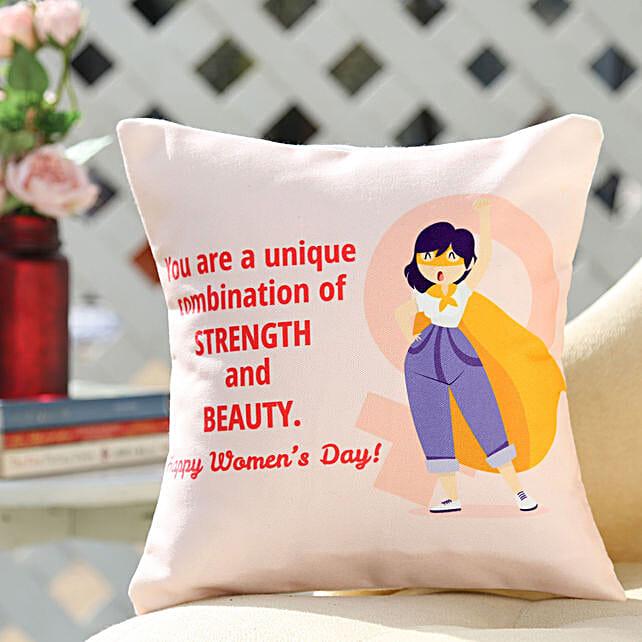Online Women's Day Cushion