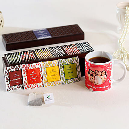 Tea Bags & Personalised Mug Combo:Personalised Mugs USA