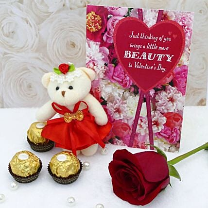 Teddy Love Combo:Flower Delivery USA