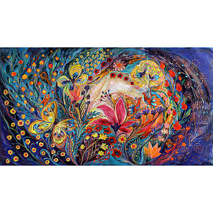 The Spiral Of Life Canvas Print Wall Hanging