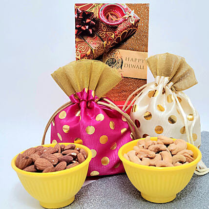 Traditional Cashews And Almonds Gift Hamper