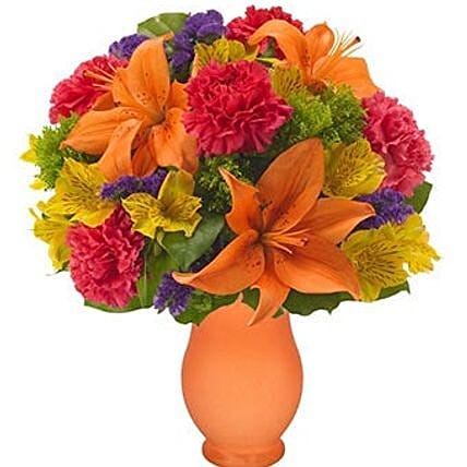 Tropical Flower Vase:Send Mixed Flowers to USA