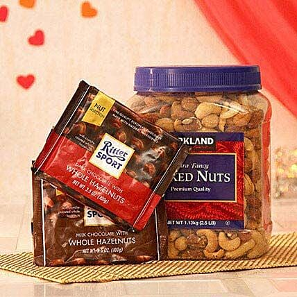 Two Assorted Ritter Sport Chocolates N Mix Nuts
