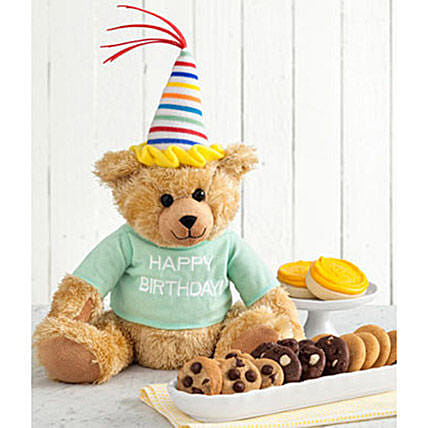 Mrs Fields Happy Birthday Bear:Send Soft Toys to USA