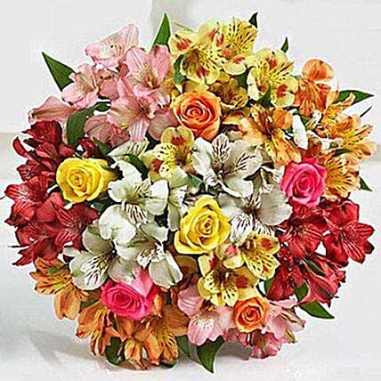 Assorted Lilies And Roses:Send Karwa Chauth Gifts to USA
