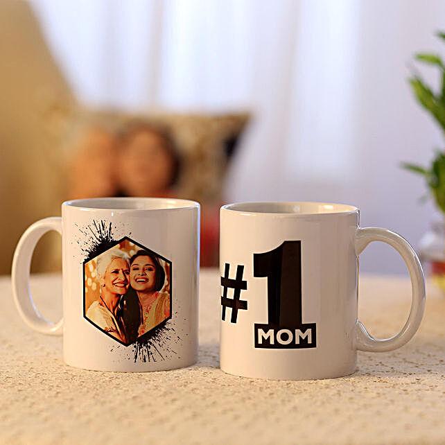 Picture Mug and Number 1 Mom Mug Combo