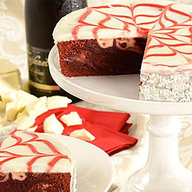 Red Velvet Brownie Cake Cakes Birthday:Send Diwali Cakes to USA