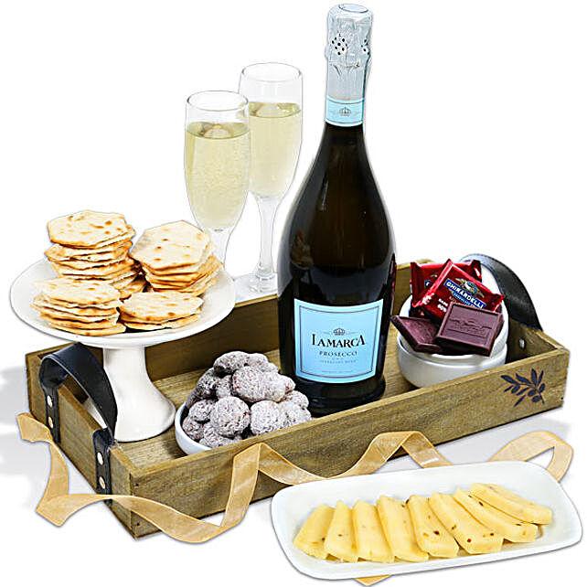 Classy Wine And Snacks Hamper