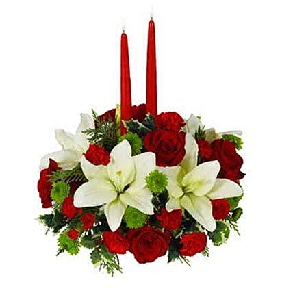Christmas Floral Centerpiece:Best Gift Discount for USA