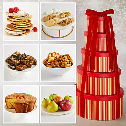 Fifth Avenue Hat Box Tower:Cake Delivery In USA