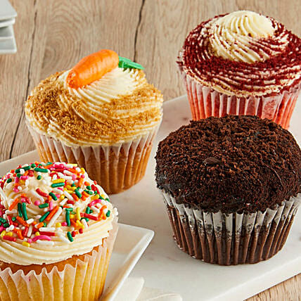 Jumbo Gourmet Assorted Cupcakes:Cupcake Delivery In USA