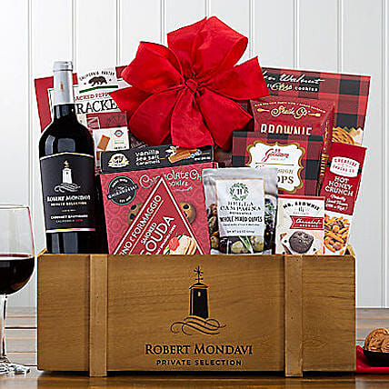 Robert Mondavi Cabernet Wine Basket:Chocolate Delivery in USA