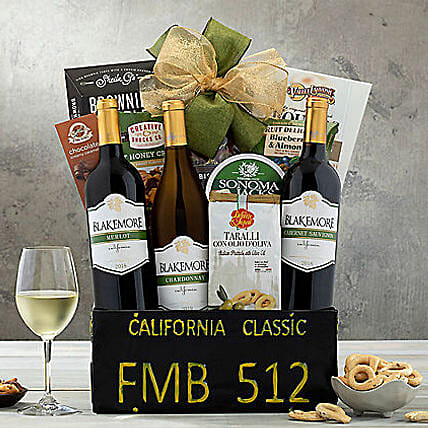 California Classic Gift Basket:Gifts to San Jose