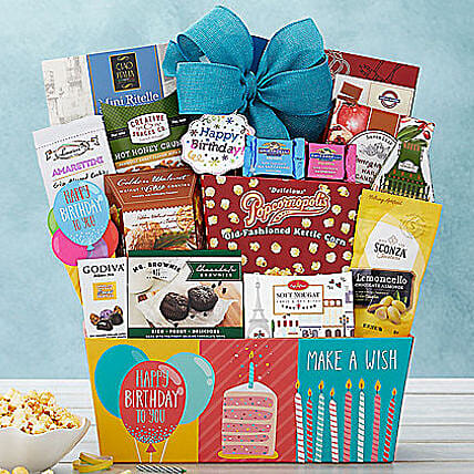 Happy Birthday Basket:Gifts to San Jose