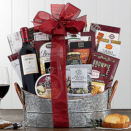 Houdini Napa Valley Cabernet Wine Basket
