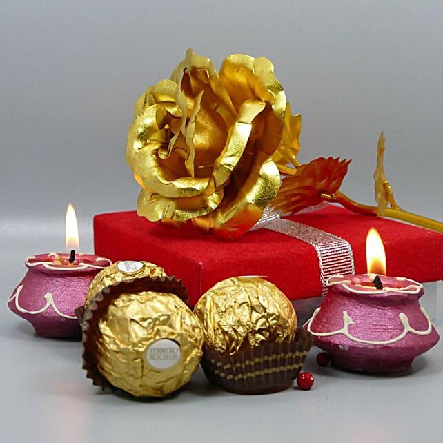 Ferrero Rocher And Forever Rose Combo
