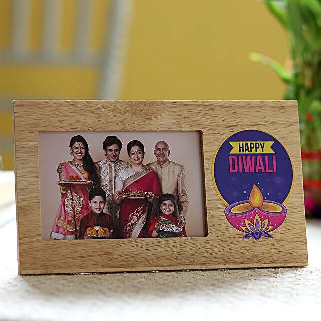 happy diwali printed photo frame online:Send Diwali Personalised Gifts to USA