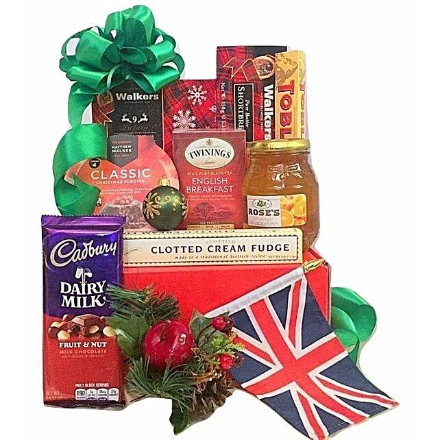 British Xmas Treats Box:Send Christmas Gift Hampers to USA