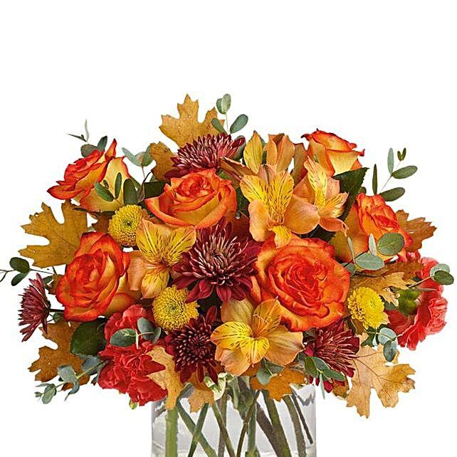 Orange Thanksgiving Birch Bouquet