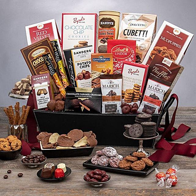 Deluxe Christmas Chocolates Gift Basket