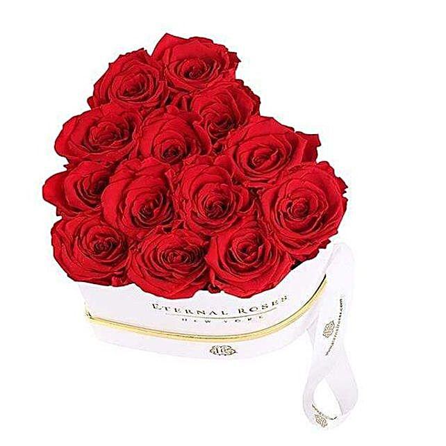 Eternal Roses In Heart Shaped Box