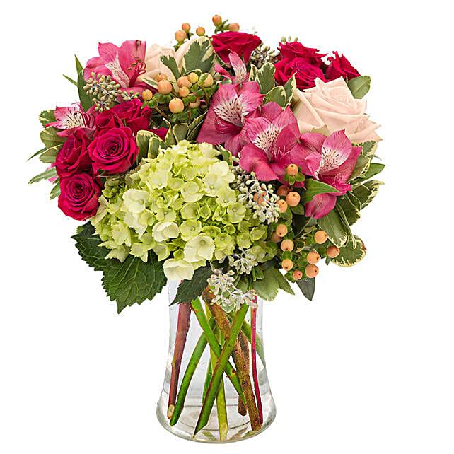 Elegant Flowers Vase Arrangement