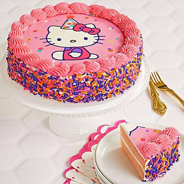 Hello Kitty Strawberry Cake