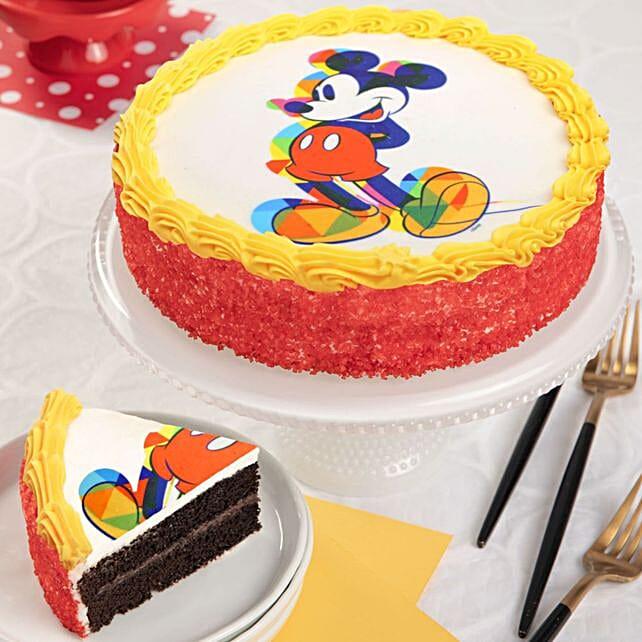 Mickey Mouse Chocolate Cake