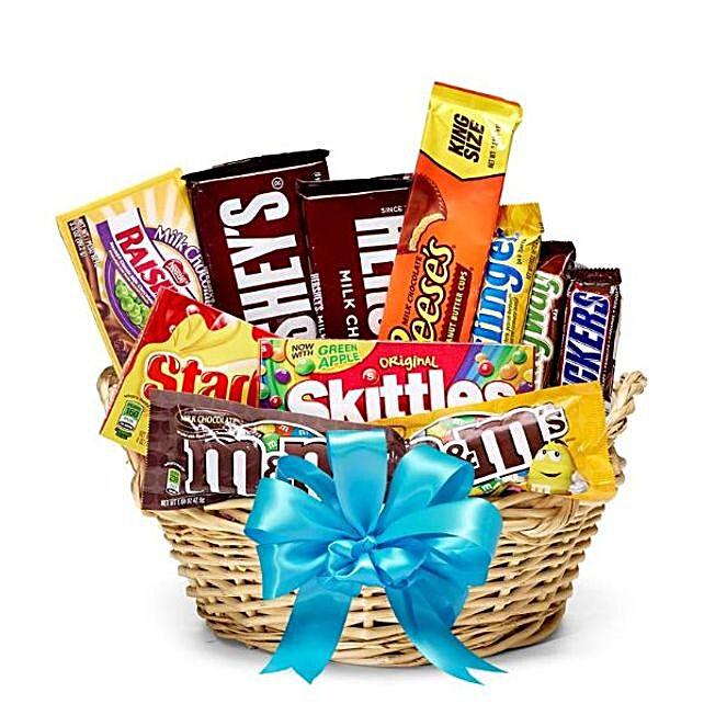 Candies And Chocolates Basket:Send Diwali Chocolates to USA