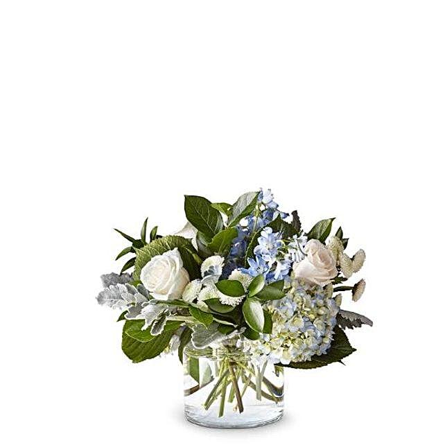 Elegant Mixed Flowers Vase:Send Flowers to USA