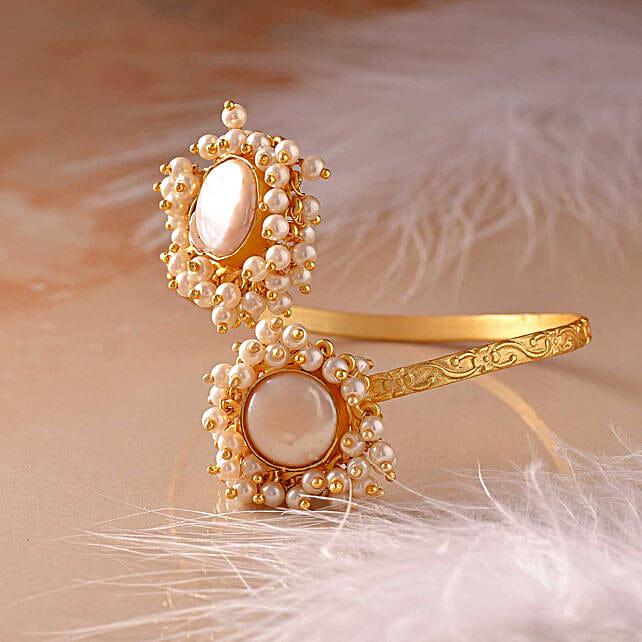 Mother Of Pearl 18 Kt Gold Polished Bracelet