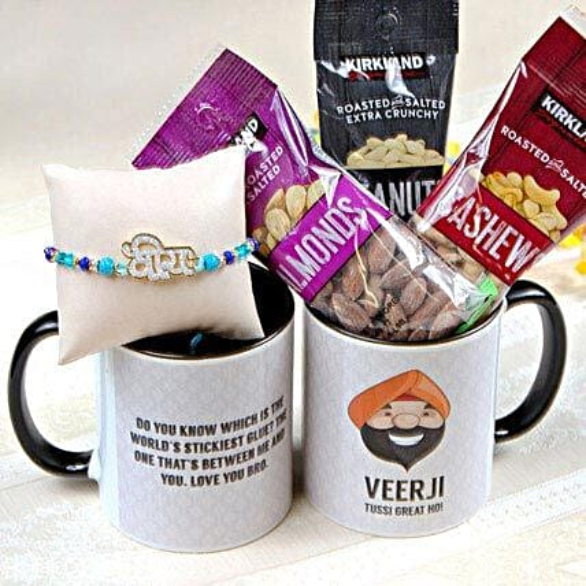 Veera Rakhi with Mug and Nuts