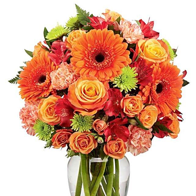 Vibrant Thanksgiving Harvest Bouquet