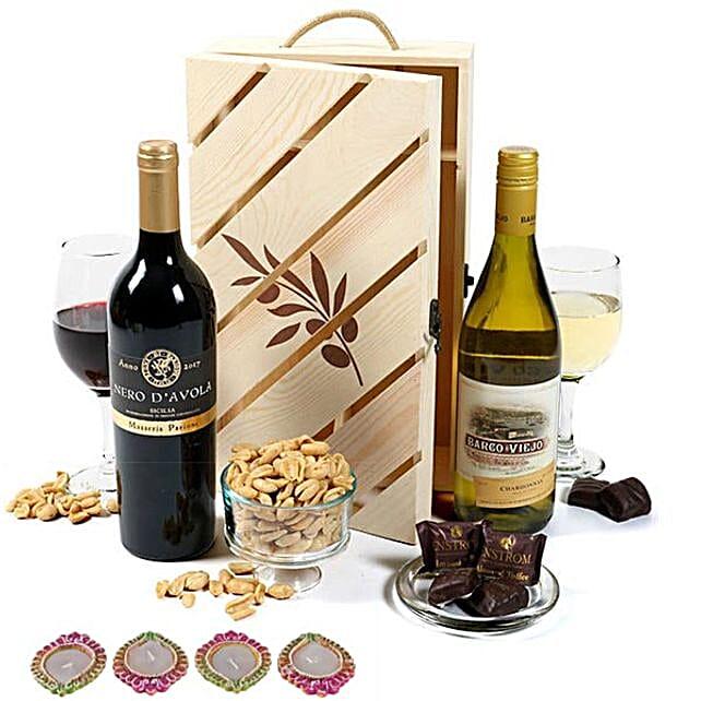 Wine Crate For Diwali Celebration
